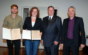 Annika Grässle und Dennis Dressel, erhalten den Jugendförderpreis des Landes für Heimatforschung