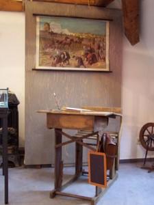 historische Schulbank
