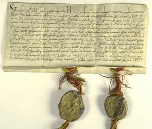 Übereignung der kirchlichen Güter von Weilimdorf an des Chorherrenstift Sindelfingen 1243