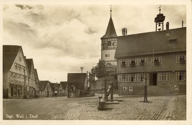 Das historische Ensemble von Weilimdorf 1941