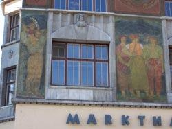 Fresken an der Stuttgarter Markthalle (1915)