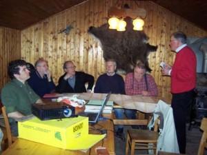 die Grenzstein-Projektgruppe bei ihrer Sitzung am 10. April 2008