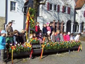 Der Osterbrunnen wird seit 2011 geschmückt