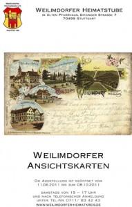 Plakat zur Ausstellung der Ansichtskarten