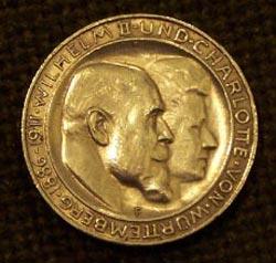 """Münze """"3 Mark - Silbermünze des Deutschen Reiches zur Silberhochzeit von König Wilhelm II. und Königin Charlotte, 1911"""""""