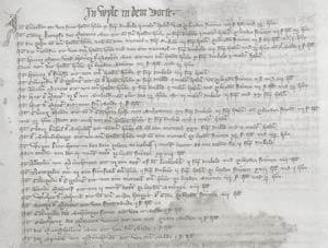 Steuerliste von 1350