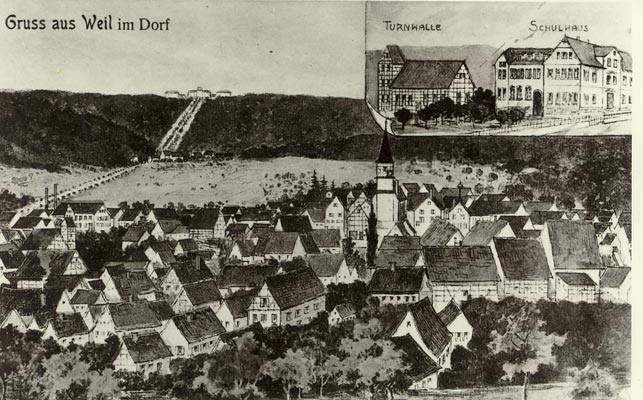 Weilimdorf um 1910 (Postkarte)