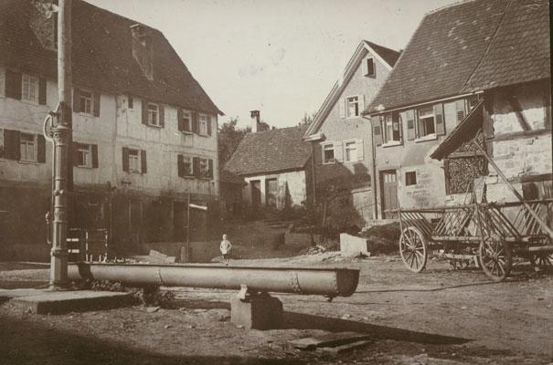 Bergheim, oberer Hof um 1930