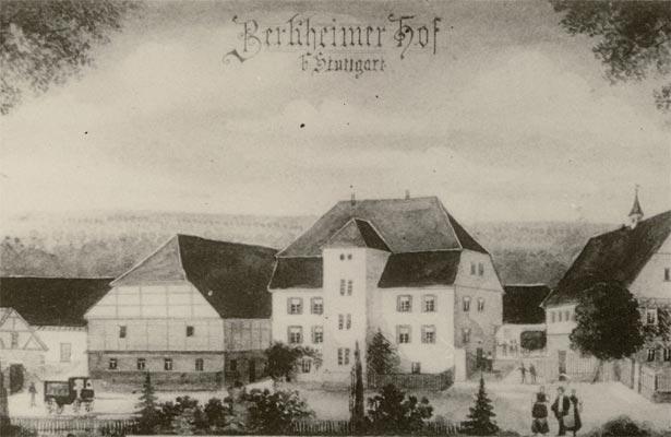Der Berkheimer Hof um 1850