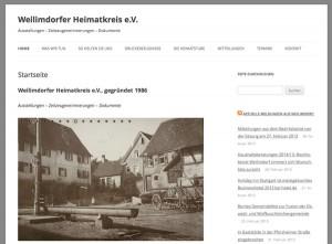 Die Startseite der neuen Webseite des Weilimdorfer Heimatkreises